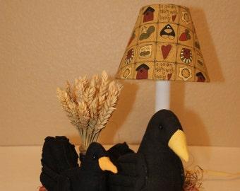Crow Blackbird Country Lamp