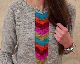 Emmanuelle Knitted Sweater Pattern - EP8944