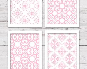 Pink Wall Art, Printable Wall Art, Printable Art, Girl Art, INSTANT DOWNLOAD, Bedroom Art, Printable Nursery Art, Bedroom Decor