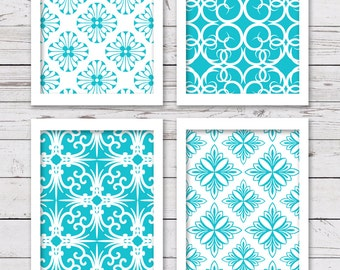 Turquoise Art, Printable Art, INSTANT DOWNLOAD, Printable Art Set, Turquoise Wall Art, Printable Wall Art, Turquoise Art Prints, Wall Decor