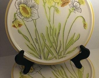 Price Reduced* 3 Vintage Mikasa Everfresh Daffodils dinner plates