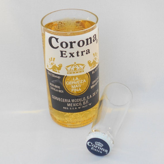 Corona glass and shot set by heartofglassuk on etsy for How to make corona glasses