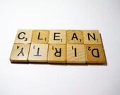 CLEAN DIRTY MAGNET, Dishwasher Magnet, Scrabble Magnet, Clean Dirty, Housewarming Gift, Scrabble, Scrabble Tile Crafts, Handmade, Kithchen