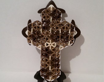 Cross made out of cardstock paper.