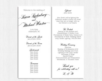 Simple wedding programs | Etsy