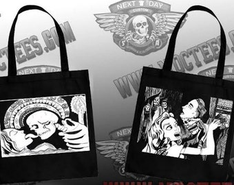 Canvas tote bag with original artwork by me