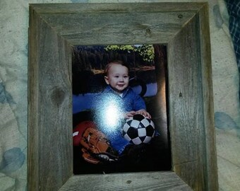8x10 Rustic wood picture frame from reclaimed barnwood