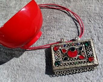 Afghan portacorano box pendant