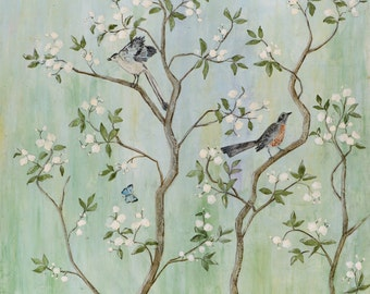 Sweet Chinoiserie ll - Fine Art Paper Print