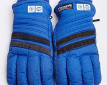 1980s Napa Thinsulate Blue Gloves