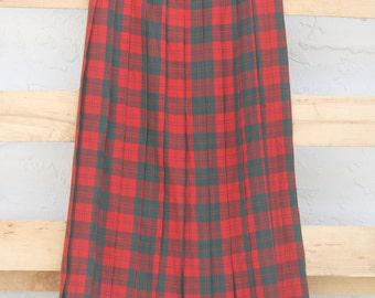 Vintage 1940s Style Plaid Skirt