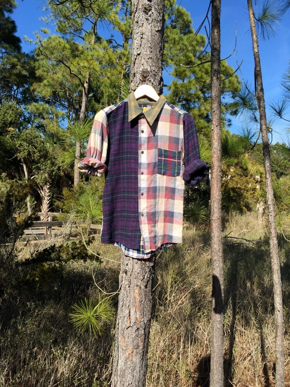 90s Mix n Match Flannel (Purple)