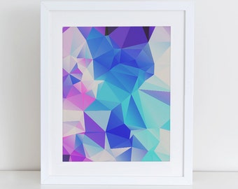 Abstract Geometric Art Print Printable, Instant Download, Printable Home Decor, Digital Art Print, Purple Abstract, Abstract Wall Decor