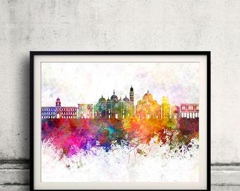 Padua skyline in watercolor background 8x10 in. to 12x16 in. Poster Digital Wall art Illustration Print Art Decorative - SKU 0739