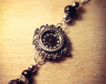 Vintage steampunk Victorian style watch necklace
