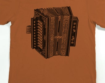 Men's Shirt - Accordion T-shirt - Musical Instrument Tshirt - Graphic tee