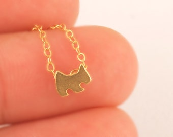 Dog Necklace, Dainty Necklace,Animal Jewelry,Gold Necklace,Matte Gold,Agatha Dog Charm,Minimalist Necklace,Mini Charm Necklace,Dog Lovers