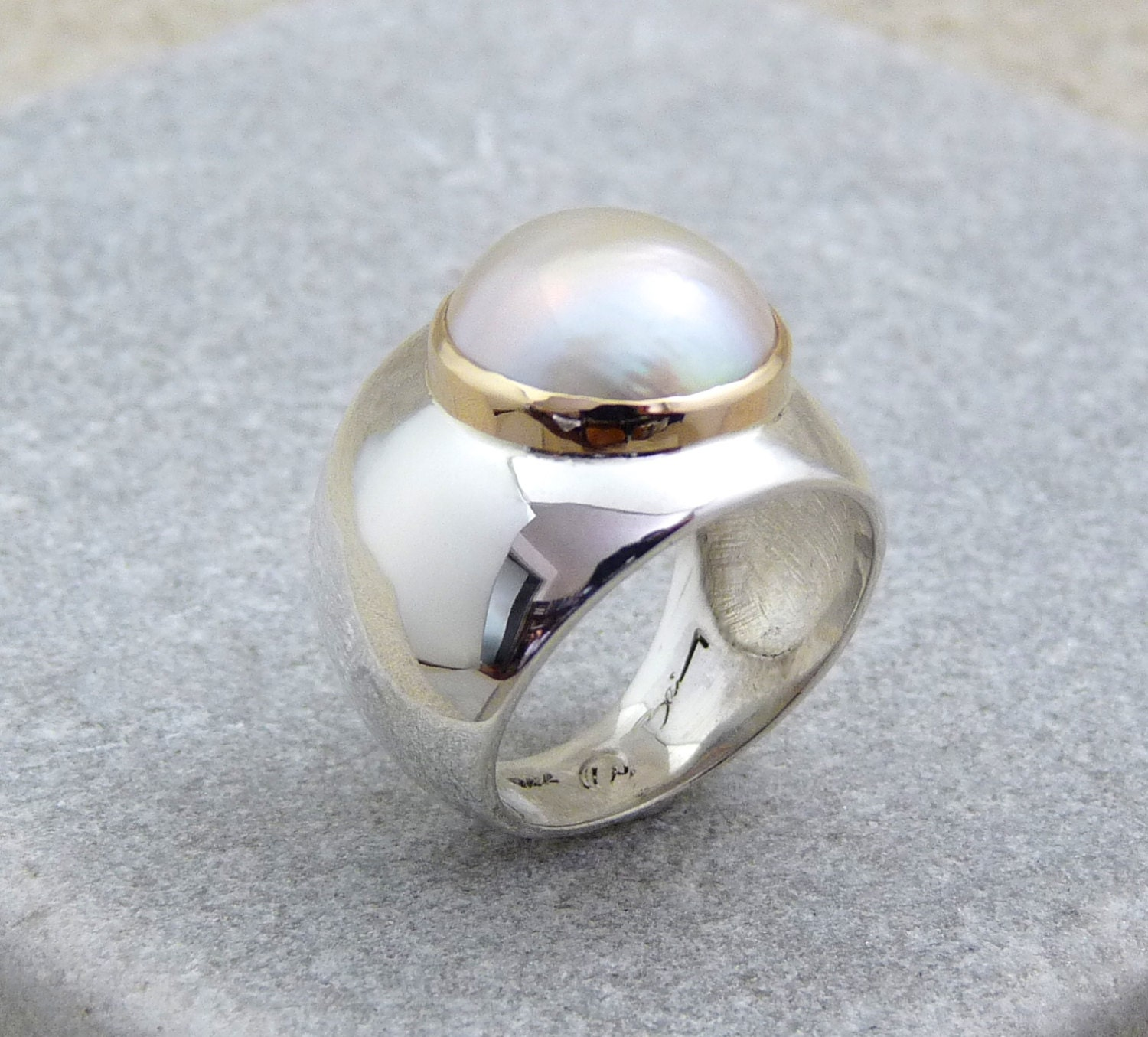 pearls pearl ring engagement minimalist listing shaped zoom il fullxfull marquise