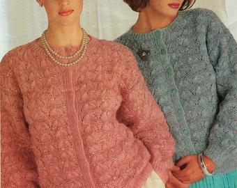 Ladies Cardigan Knitting Pattern PDF