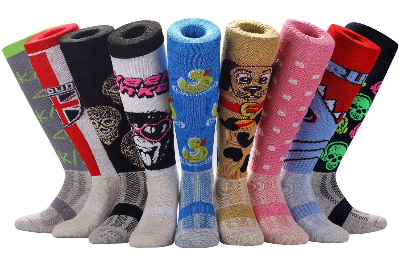 how to put on hockey socks