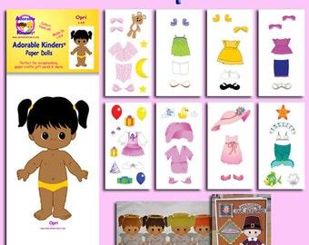 Opri Printable Paper Doll Set - Download PDF - Clip Art