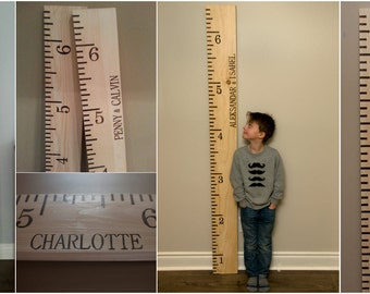 THE MAGGIE Engraved Wooden Growth Chart Ruler