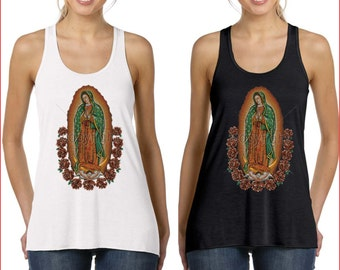 Women's The Madonna Our Lady Of Guadalupe Virgin Mary Tank Top S-XL