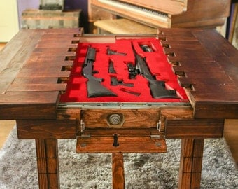 Dining Height   Secret Compartment Table For Storing Guns Or Other  Valuables (MADE TO ORDER
