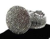 Statement Bracelet,Unique Bracelet,Crystal Bracelet, Cuff Bracelet,Unique Bracelets,Bridal Bracelet,Silver Bracelet,Bracelet,Rhinestone