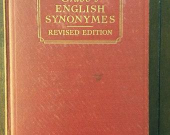 Crabb's English Synonymes, vintage book