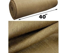 """Jute Natural Burlap Fabric 40"""" Wide Sold By The Yard"""