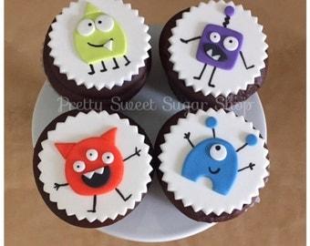 Monster Fondant Cupcake Toppers
