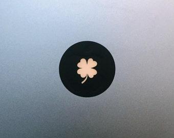 Four Leaf Clover Macbook Decal / Lucky Macbook Pro Sticker