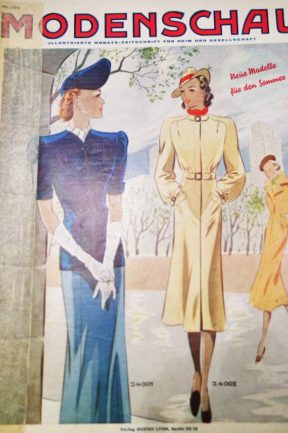 Items Similar To Vintage Clothing Pattern 1930s 1940s