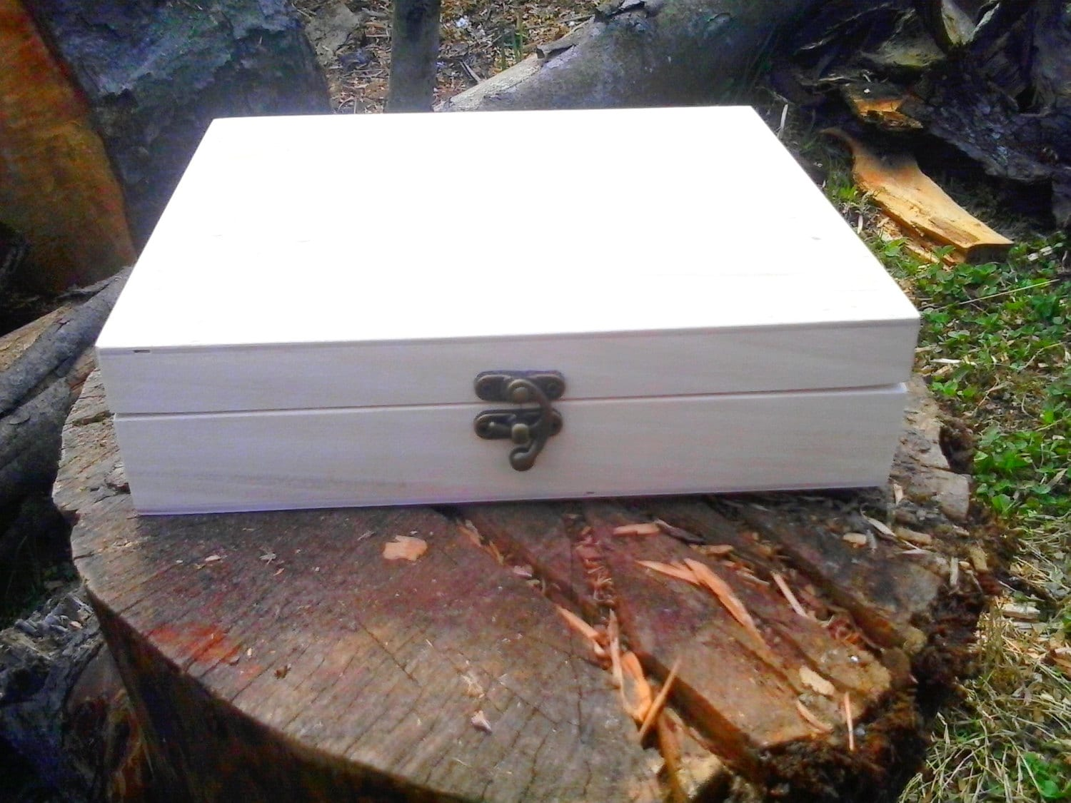 Unfinished Wood Chest ~ Big unfinished wood box treasure chest