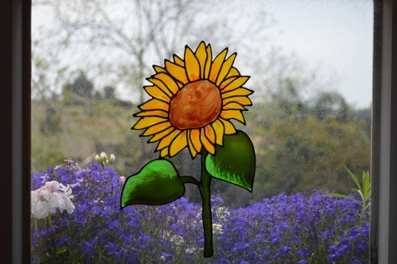 Sunflower Gifts Glass Door Decal Static Cling By Madbekatja