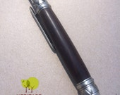 Montague Gothic Style Handmade Pen Antique Pewter & African Blackwood