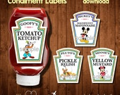 SaLe!!!-MICKEY MOUSE CLUBHOUSE Condiment Labels-  Digital File