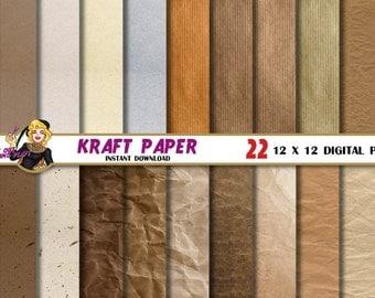 Kraft digital paper, Paper texture, Kraft background, blog, patterns, brown paper, craft paper, cardboard, paper grain, Scrapbooking paper