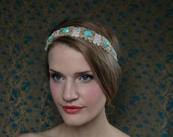 Something Blue Lace Headband
