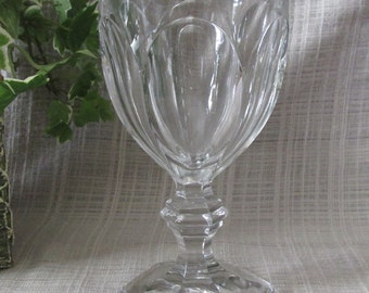 """Heisey ,Vintage, Replacement Glassware, Crystal,  Water Goblet, """"Puritain-Clear, Colonial by Heisey Pattern, 341 6 oz"""