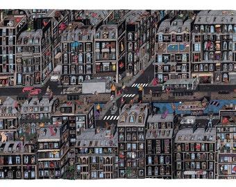 Parisian Neighbourhood / Giclee Print