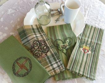 Celtic theme kitchen towels