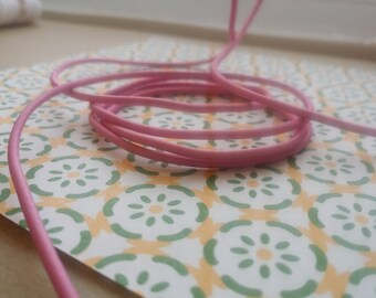 Elastic Cord in Carnation Pink (2mm)