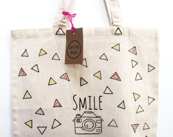 Smile Camera Tote Bag