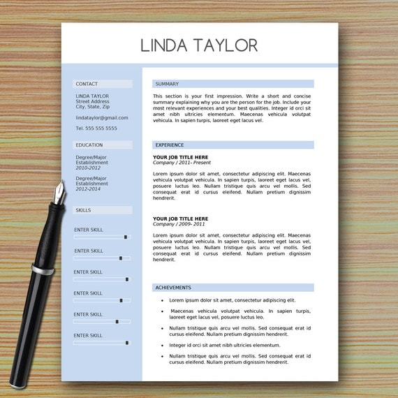 professional modern resume template for microsoft word references page cover letter writing tips