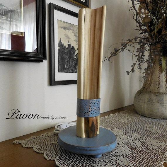 Lampada in legno,lampada, lampada da tavolo, paralume, abat-jour ...