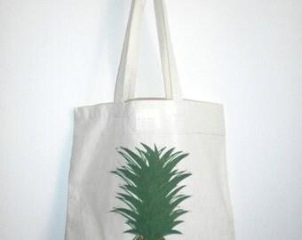 Shopper Bag Linocut Linocut Pineapple