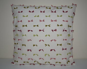 Pink Green Ribon Decorative Pillow Cover-16x16