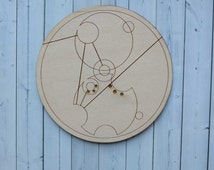 Dr Who gift for him. Decorative Gallifreyan wall plaque - TARDIS Thief (unframed)